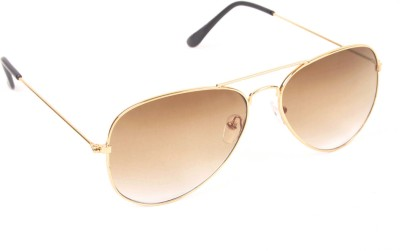 6by6 SG286 Aviator Sunglasses(Brown)