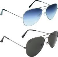 Zyaden COM94 Aviator Sunglasses(Blue, Black)