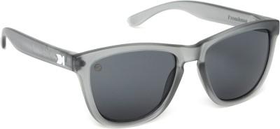 Knockaround Premiums Frosted Grey / Smoke Wayfarer Sunglasses
