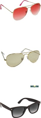 Bellina Aviator, Wayfarer Sunglasses
