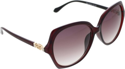 Vast WOMENS _2830_DIAMOND_NET_RED Over-sized Sunglasses(Violet)