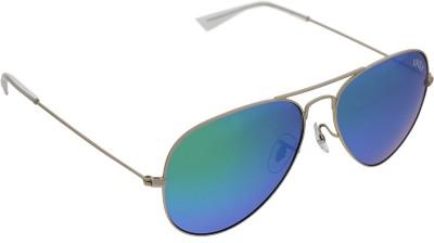 Vast MIRROR GOLD GOLD AVIATOR POLO Aviator Sunglasses(Golden)