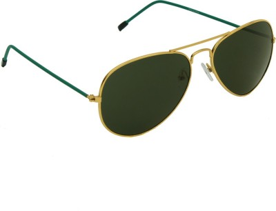 6by6 SG1229 Aviator Sunglasses(Green)