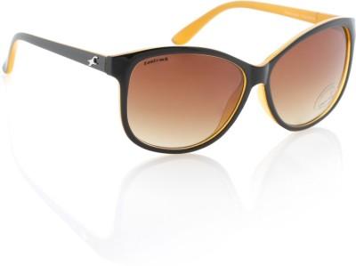 Fastrack P242BR1F Wayfarer Sunglasses(Brown)