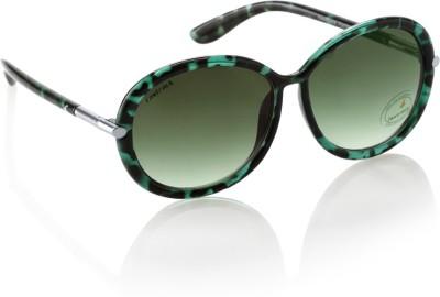 Fastrack P347GR2F Round Sunglasses(Green)
