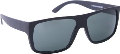 Gansta Gansta ZE-1021 Full black rectangular sunglass Rectangular Sunglasses(Black)