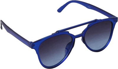 QWERTY Blue Erika Unisex Cat-eye Sunglasses