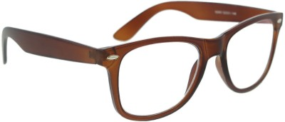 Vast WAYFARER_BROWN_CLEAR_ARC Wayfarer Sunglasses(Clear)