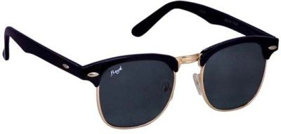 Floyd 17129_BLK_GOLD_GREY Wayfarer Sunglasses(Grey)