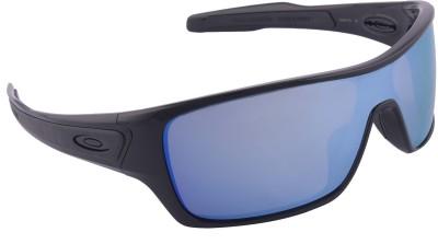 Oakley Turbine Rotor PlshdBlk w/PrizmDpH2OPlr Wrap-around Sunglasses
