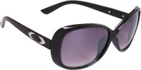 Camerii SCL22 Rectangular Sunglasses(Black)