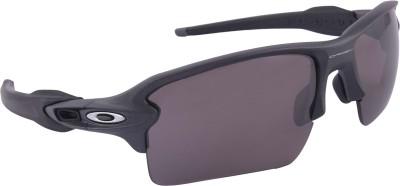 Oakley Flak 2.0 XL Steel w/ Prizm Daily Wrap-around Sunglasses