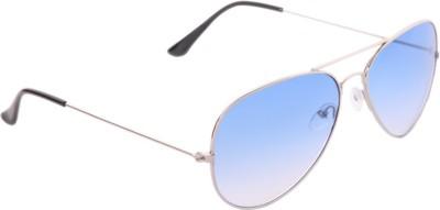 Gansta Winsome Blue Lens Aviator Sunglasses
