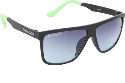 Danny Daze D-3209-C5 Rectangular Sunglasses(Black)
