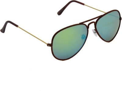 6by6 SG1240 Aviator Sunglasses(Green)