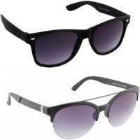 Irayz IRZ_32-1217CS Oval Sunglasses(Black, Black)