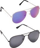 Dark Image Combo Pack of 2 Aviator Sungl...