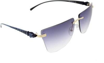Vast 6809_PANTHER_RIMLESS_GOLDBLUE_W Over-sized Sunglasses(Blue)