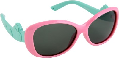 Gansta Gansta HR-1009 Pink & Green Kids polarized lens sunglass Cat-eye Sunglasses(For Boys)
