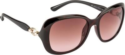 Farenheit FA-2316-C2 Oval Sunglasses(Brown)
