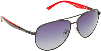IMAGE S486-C2P Aviator Sunglasses(Blue, Grey)