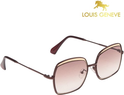 Louis Geneve Luxury Series Copper Frame with Brown Lens Cat-eye Sunglasses