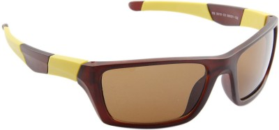 Funky Boys 3010-C3 Sports Sunglasses(Brown)