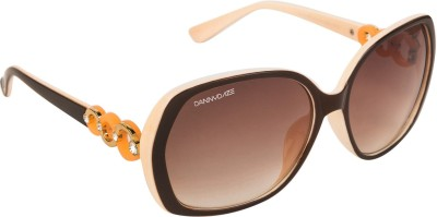Danny Daze D-73-C5 Over-sized Sunglasses(Brown)