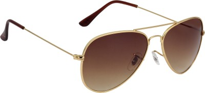 Fave FAV009 Aviator Sunglasses(Brown)