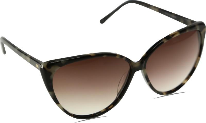 Mango Pickles C-3002-Grey-Black-Demi Cat-eye Sunglasses(Black)