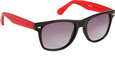 Cristiano Ronnie Matt. Black & Red Wayfarer Sunglasses