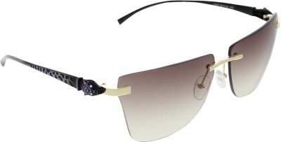 Vast 6809_PANTHER_RIMLESS_GOLDPURP Over-sized Sunglasses(Grey)