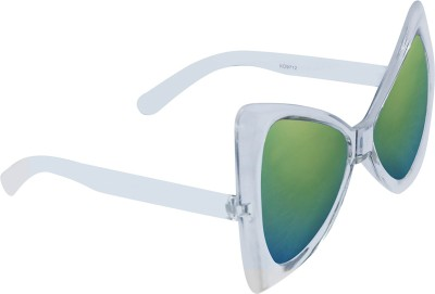 KEA re2110 Over-sized Sunglasses(Green) at flipkart