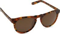 Mango Pickles R-2038-Mat-Brown-Demi Wayfarer Sunglasses(Brown)