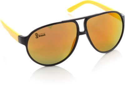 FIFA FB-S-104 Aviator Sunglasses(Orange, Yellow)