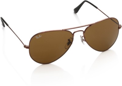 Ray-Ban 0RB3025I 0145 Aviator Sunglasses(Brown)