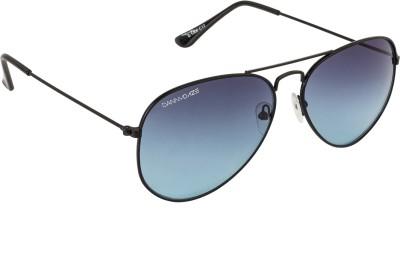 Danny Daze D-3000-C4 Aviator Sunglasses(Blue)