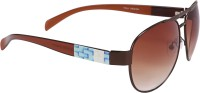 Camerii SOW67 Oval Sunglasses(Brown)