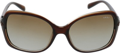 Vast WOMENS XX DIAMOND BROWN Oval Sunglasses(Brown)
