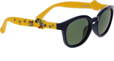Vast KIDS_SMART_ANIMAL_CARTOON_BLUE_YELLOW_POLARIZED Round Sunglasses(For Boys)