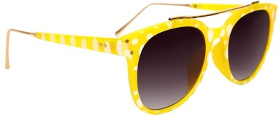 AQ Cherida Yellow Printed Round Sunglasses