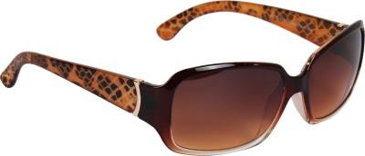 Deglazen St-133 Over-sized Sunglasses(Brown)
