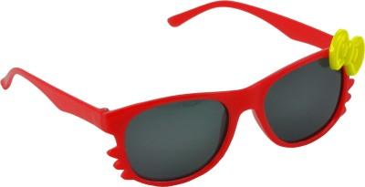 Angel Glitter Red Riding Hood, Yellow Bow Kids Wayfarer Sunglasses