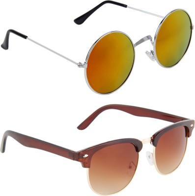Zyaden Combo Pack Round, Round Sunglasses