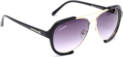 Amaze AM0932 Aviator Sunglasses(Black)