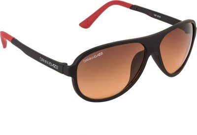 Danny Daze D-3200-C6 Over-sized Sunglasses(Brown)