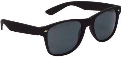 ABAZY Rubber Finish Black Wayfarer Sunglasses