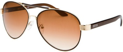 Kenneth Cole KC1233@6033F Aviator Sunglasses(Brown)