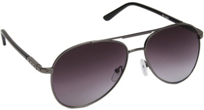 Gansta Gansta RS-1008 Grey aviator sunglass Aviator Sunglasses(Grey)
