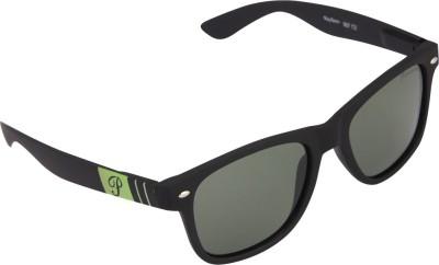 PANACHE Matte Black-Green frame-Green B2 Polarised Lens Wayfarer Sunglasses
